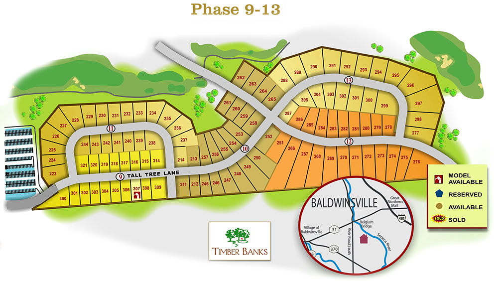 Map of Timber Banks Phase 9-13