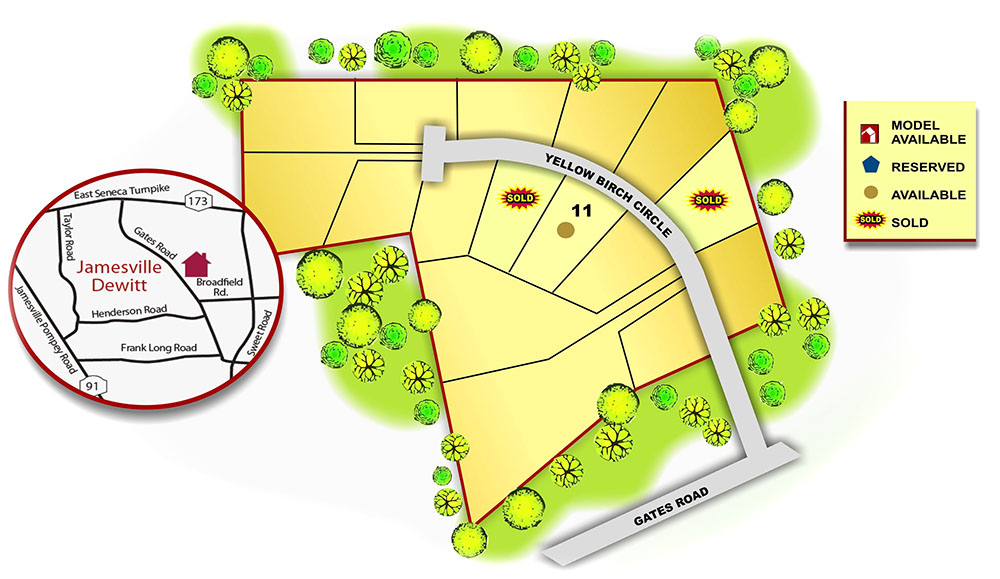Map of Yellow Birch Estates